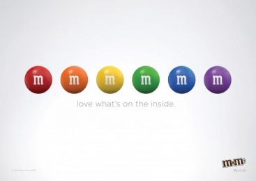 M&M's: Love What's Inside Print Ad by BBDO New York, HouseSpecial