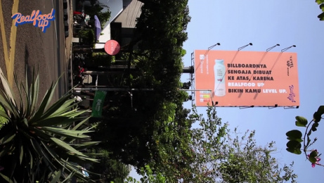 Realfood: Hard-To-Read Billboard [video] Film by LUP, Jakarta