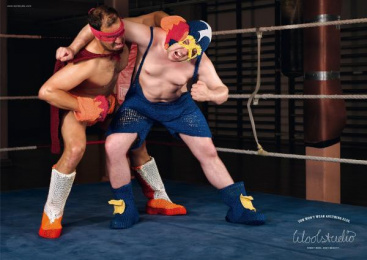 WOOL AND WOOLENS STORE: WRESTLER Print Ad by DDB Berlin