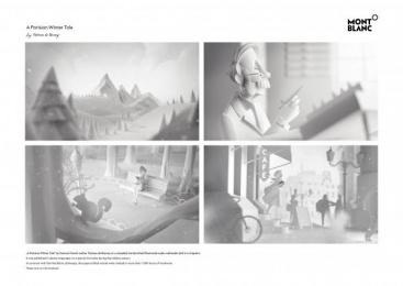 MONTBLANC: A Parisian Winter Tale Digital Advert by Scholz & Friends Berlin