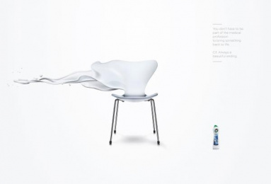 Cif: Chair Print Ad by MullenLowe London