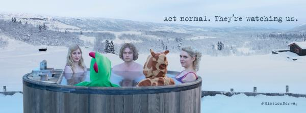 Telenor: Hot tub Print Ad by Green Cave People