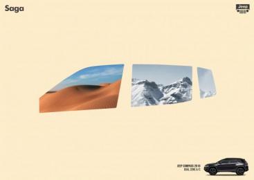 Saga Jeep: Windows, 1 Print Ad by Isobar Brasília