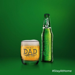 Carlsberg: #stayathome, 3 Print Ad by FCB Happiness Brussels
