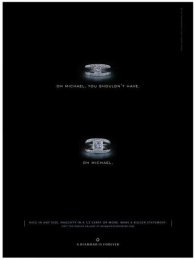Diamond Trading Company: OH MICHAEL Print Ad by J. Walter Thompson New York