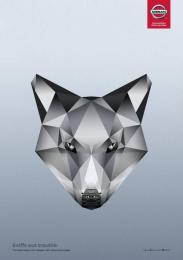 Nissan: Arctic Fox Print Ad by Juniper Park \ TBWA