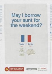 Toyota: Aunt Print Ad by Saatchi & Saatchi New Zealand