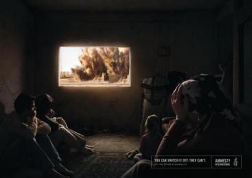 Amnesty International: Explosion Print Ad by Ogilvy & Mather Frankfurt