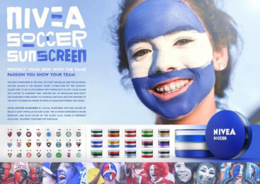 Nivea: PROTECT YOUR SKIN  WITH THE SAME PASSION YOU SHOW YOUR TEAM Direct marketing by Miami Ad School Rio de Janeiro