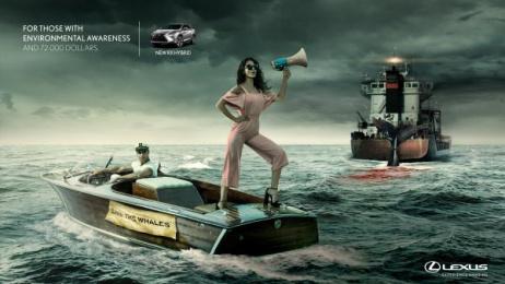 Lexus Rx: Whale Print Ad by Ogilvy & Mather Buenos Aires, P4 Ogilvy Panama, Struka