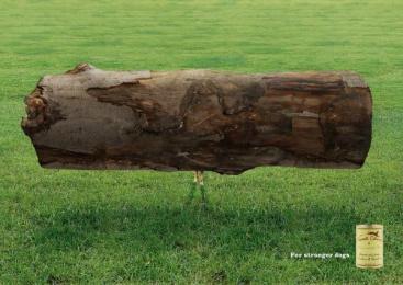 Dog Food: BAUMSTAMM Print Ad by Q Werbeagentur