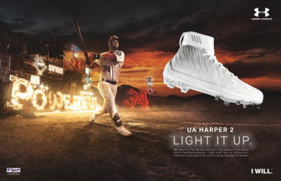 Under Armour: Bryce Harper Signature Cleat, 1 Print Ad by Team collaboration