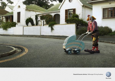 Driving Academy: CLOWN Outdoor Advert by Ogilvy Cape Town