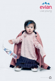 Evian: Oversize, 7 Print Ad by BETC