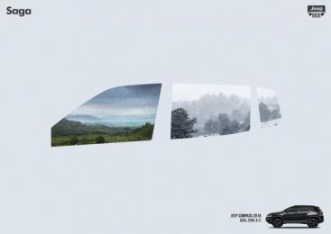 Saga Jeep: Windows, 2 Print Ad by Isobar Brasília