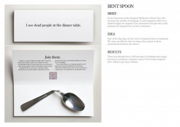 Ghost Tour: BENT SPOON Direct marketing by M&C Saatchi Melbourne
