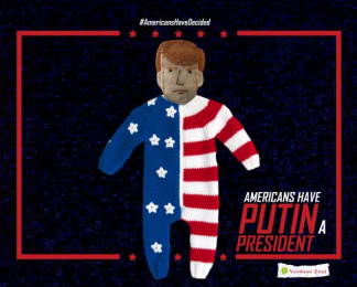 THE AMERICAN ELECTION: AMERICANS HAVE PUTIN A PRESIDENT Print Ad by Bates Cosse, Verdant Zeal
