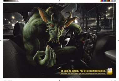 Road Safety: MUTANT Outdoor Advert by Lowe Strateus Paris