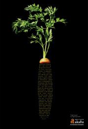 The Akatu Institute: Carrot stem soup Print Ad by Leo Burnett Tailor Made Sao Paulo