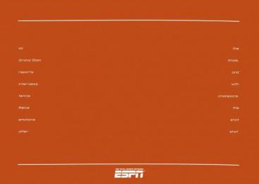 ESPN Network: TENNIS Print Ad by Armando Testa Turin