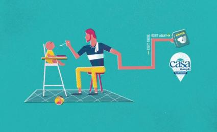 Casa Galegao: Diaper Print Ad by Seven Comunicação Total