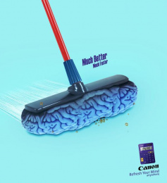 Canon: Brain Sweeper Print Ad by Team collaboration