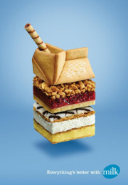 Dairy Farmers Of Canada: Everything's better with milk, 2 Print Ad by Nolin BBDO Montreal