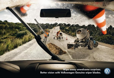 Volkswagen Services: CONSTRUCTION WORKER Print Ad by DDB Berlin