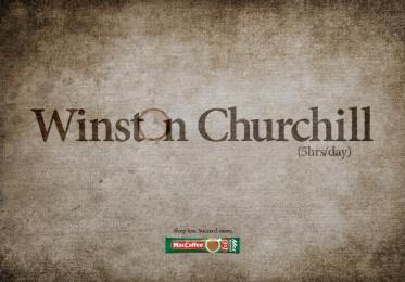 Maccoffee: Winston Churchill Print Ad by Cheil Kazakhstan
