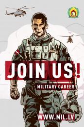 Latvijas armija: Join Us, 2 Print Ad by Tribe