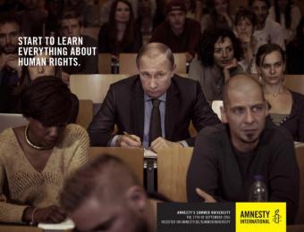 Amnesty International: Putin Print Ad by Air Brussels, L.A. Initials