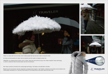 Travelers: Umbrella Ambient Advert by SHAPE Advertising, Taipei