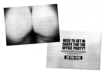 Metro Gym: Metro Gym Bum Print Ad by BJL Manchester