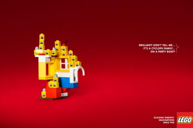 LEGO: Cyclops Family Print Ad by Brad