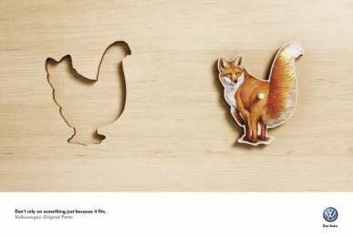 Volkswagen Original Parts: Fox Print Ad by ALMAP BBDO Brazil