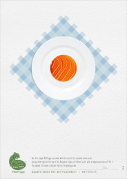 Free Hens: Fish Print Ad by Black Sheep