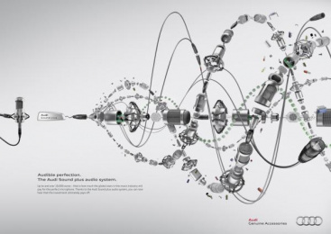 Audi Sound plus: Microphone Print Ad by Kempertrautmann Hamburg
