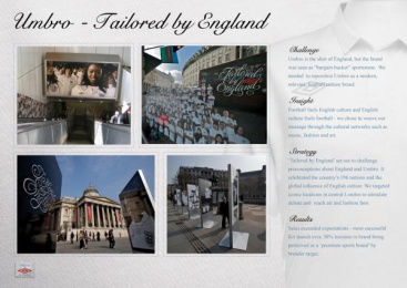 ENGLAND KIT LAUNCH: TAILORED BY ENGLAND Promo / PR Ad by Mindshare London
