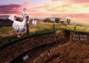 Oral-b: Chicken Print Ad by Publicis Yorum Istanbul