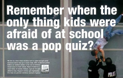 Gun Safety: POP QUIZ Print Ad by Fallon Mcelligott