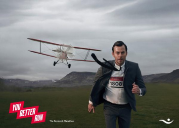 Islandsbanki: You Better Run Print Ad by Brandenburg