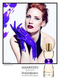 Yves Saint Laurent: Purple paint Print Ad by Luxury Arts, TBWA Paris