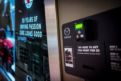 Mazda: Tap-to-Pay Billboard, 5 Digital Advert by J. Walter Thompson Toronto