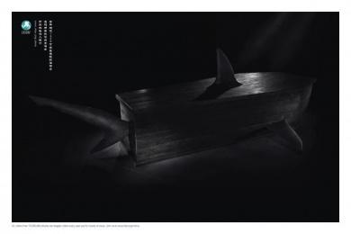 Ifaw: SHARK Print Ad by Y&R Beijing