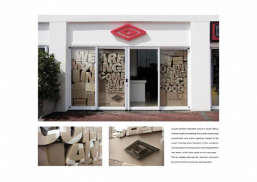 Umbro: MOVING IN Outdoor Advert by DDB Johannesburg