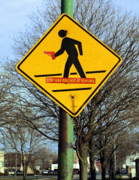 Illinois Council Against Handgun Violence: Warning Signs, Gun Crossings Outdoor Advert by Y&R Midwest Chicago