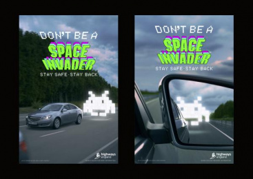 Highways England: Space Invaders, 6 Print Ad by adam&eveDDB London