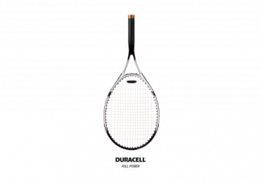 Duracell: Racket Print Ad by Muchimuchi