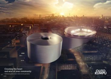 Outokumpu Stainless Steel: Stadium Print Ad by Euro Rscg Helsinki