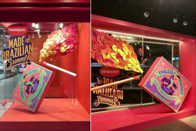 Havaianas: Havaianas Shop Window Taiwan Outdoor Advert by ALMAP BBDO Brazil